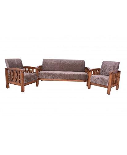 Adlakha Furniture Teak Wooden Side Cross Design Sofa 3 1 1 Amazon