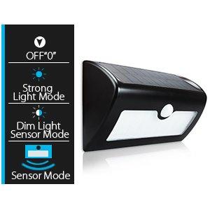 Solar Power Motion Lights,MAONO Wireless Sensor Night Outdoor Flood Street Flood IP67 Waterproof Motion 40 LEDs Solar Energy Sensor Light Mode