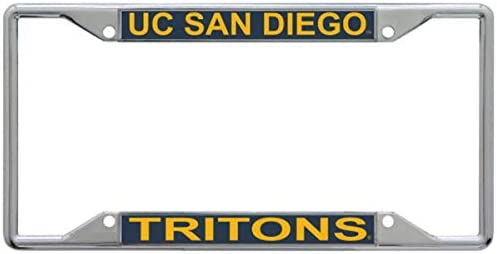 Chrome with Hand Inlaid Acrylic WinCraft UC San Diego Tritons Premium License Plate Frame