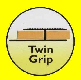 Wood and Laminate Floor Edging - Twin Grip Gold 900mm Rolabond M234