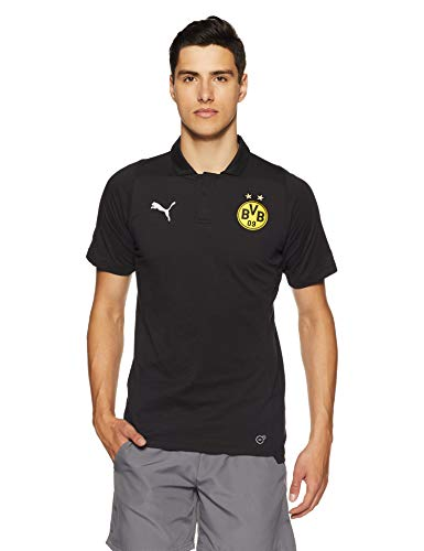 Black Shirt Herren Logo Without Polo Sponsor Casual Puma Bvb T V6wqnzqdc
