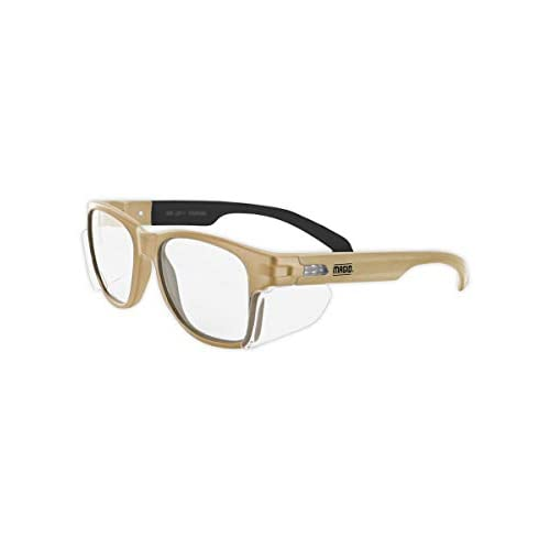 Magid Glove /& Safety Tan Anti Fog z87 Safety Glasses Coyote Tan Clear Lens