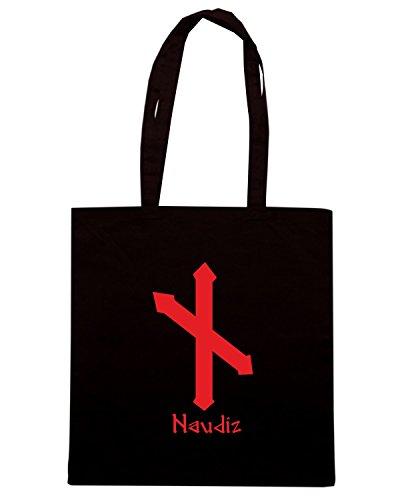 T-Shirtshock - Bolsa para la compra T0304 naudiz religioni celtic Negro