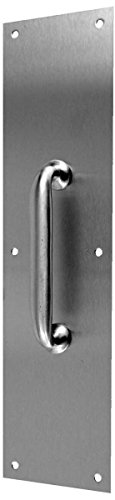 Don-Jo 7111 Brass Pull Plate with 3/4'' Round Pull, Polished Brass Finish, 4'' Width x 16'' Height by Don-Jo