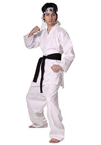 Karate Kid Costumes For Adults (Authentic Karate Kid Daniel San Costume Small)