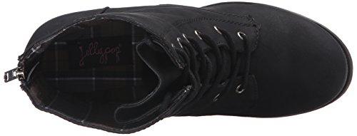 Jellypop Women's Freddy Engineer Boot Black Distress E3rzm