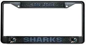 Hall of Fame Memorabilia San Jose Sharks Black Chrome License Plate Frame ()