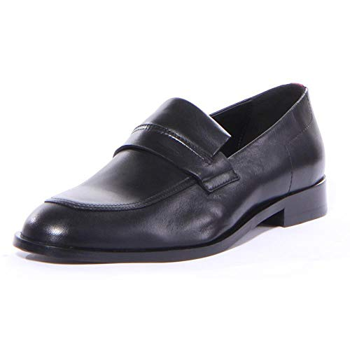 Hugo Boss Men's Smart Black Leather Loafers Shoes Sz: 9