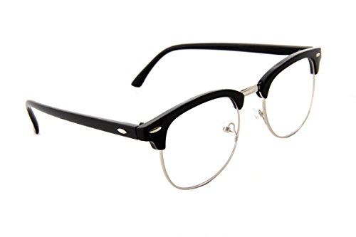 Black Line Glass - IVOZZO - Classic Half Frame Semi-Rimless Clear Lens Glasses
