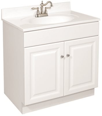 DESIGN HOUSE 102460 Wyndham Bathroom Vanity Cabinet, Ready to Assemble, 2 Door, White, 24'' x 31-1/2'' x 21''