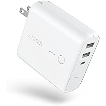 Anker PowerCore Fusion, Portable Charger 5000mAh with Dual USB Wall Charger, Foldable Plug and PowerIQ, Battery Pack for iPhone, iPad, Android, Samsung Galaxy and More