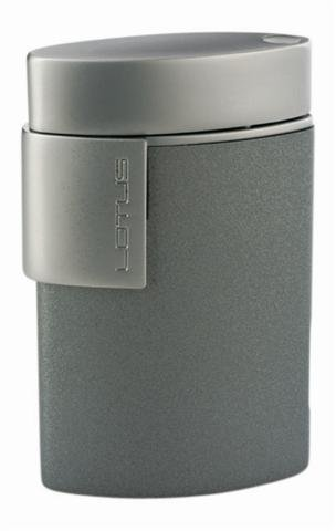 Lotus L510 grey matte & chrome velour Torch Flame Lighter