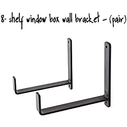 "8"" Shelf Window Box Wall Bracket - (Pair)"