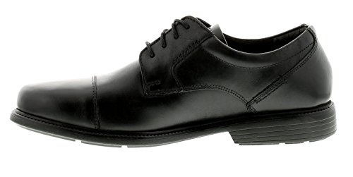 Rockport Charles Road Cap Toe Mens Leather Formal Shoes Black - Black - UK Sizes 7-11 XnHTSTRSa