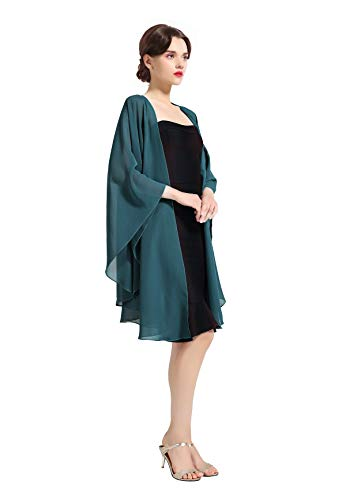 Shawl Wrap Chiffon Scarf For Women Evening Dresses Wedding Stole Teal Green by BEAUTELICATE