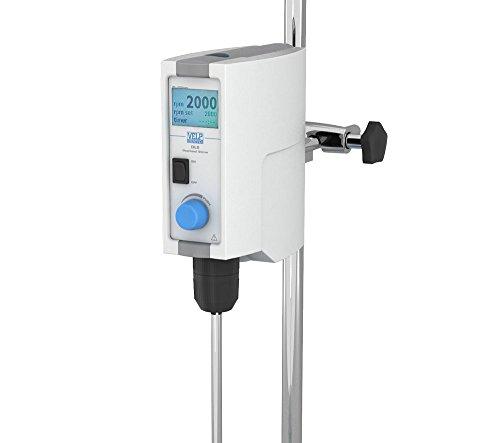 VELP Scientific F201A0155 DLS Overhead Stirrer, Digital Display, Timer Function, Speedservo Counter Reaction, 50 to 2000 rpm, 25 L Volume, Medium Viscosity 80-260V/50-60 Hz