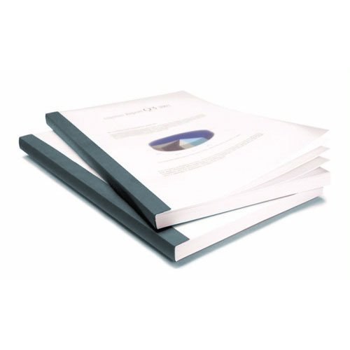 Coverbind 1/8'' Graphite Clear Linen Thermal Covers 90pk - 575101