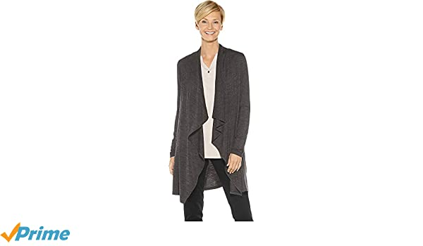 bec62ecaad Coolibar UPF 50+ Women s Suffolk Merino Cardigan - Sun Protective at ...