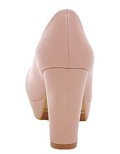 Mujeres Sin Rosa Tacn Slido Redonda Zapatos De Puntera Aalardom Cordones Pu Alto OxdTOgnwq