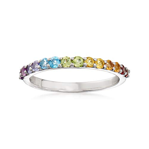 Ross-Simons 0.46 ct. t.w. Multi-Gemstone Ring in Sterling Silver ()
