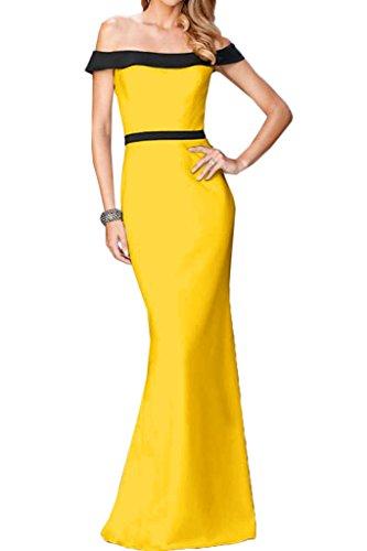 Festkleid Damen Promkleid Lang Golden Partykleid Ausschnitt U Abendkleid Linie Etui Ivydressing Liebling gqzawqH