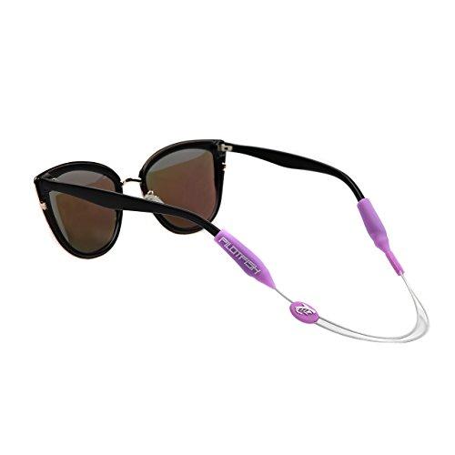 (Pilotfish No Tail Adjustable Eyewear Retainer - Sunglass Holder Strap - Sunglasses Retainer (Purple Coral, 14 Inches))