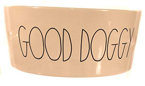 Rae Dunn X-Large Good Doggy Large Letter Dog Bowl