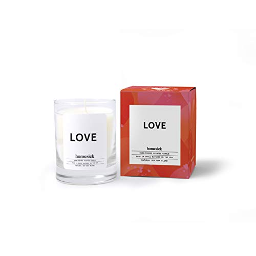 Homesick Mini Scented Candle (10 to 12 hr Burn Time) Home, 1.5 oz, Love