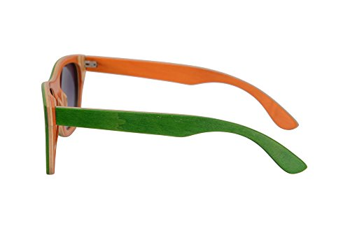 orange de Lunettes Grey Sports Plein Main Protection de air Summer a Green de Gradient Soleil Soleil nature Z68004 Bois UV400 Polarisees SkateWood SHINU Lunettes en Lunettes la FSnUq6p