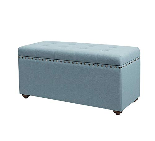 Wood & Style Furniture Bench, Capri Blue Home Office Commerial Heavy Duty Strong Décor