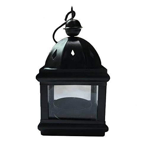 - Josairy Black Metal Mini Candle Holder Hanging Lantern Candle Holder for Tea Light Candles 1 Piece