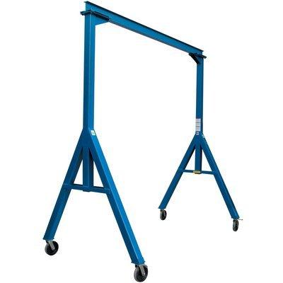 Vestil FHS-4-10 Fixed Height Steel Gantry Crane, 4000 lbs Capacity, 10' Length x 8'' Height Beam