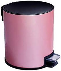 滑らかな表面 蓋付きの缶をゴミ箱、ソフトクローズおよびリムーバブルインナーごみ箱バスルームキッチンダイニングルームカフェパントリーメタルごみ箱 リサイクル可能なデザイン (Color : E, Size : 7L-20.5*33.5CM)