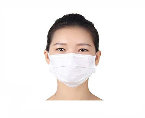50 Pcs Anti Dust Breathable White Disposable Earloop Mask No