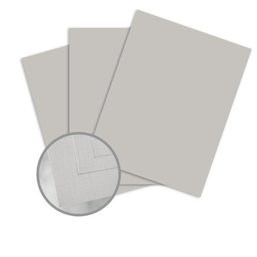 Via Linen Light Gray Paper - 8 1/2 x 11 in 24 lb Writing Linen 30% Recycled Watermarked 500 per Ream by Mohawk Fine Papers Via Linen