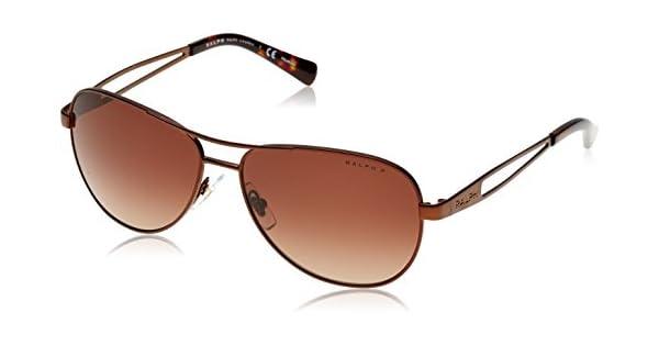 Amazon.com: Ralph anteojos de sol RA 4115 3101T5 Satin café ...