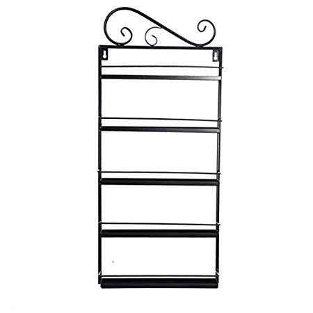 5 Tier Metal Nail Polish Rack Wall Mounted Salon Shelf Display Rack Holder Stand Organizer Capacity of 60 Bottles US STOCK