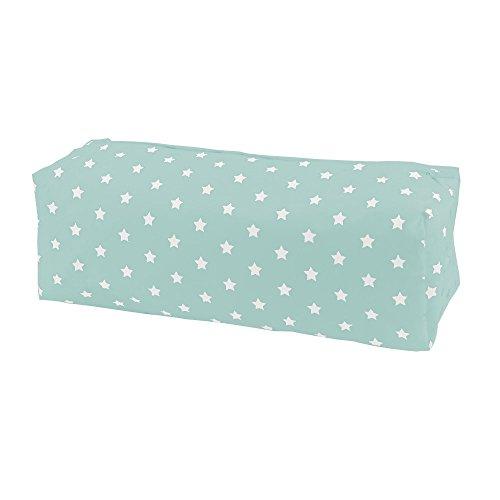 Sugarapple Feuchttücher Spender Box Überzug aus 100% Baumwolle 24 x 13 x 6 cm, Feuchttuchbox Bezug für gängige Pflegetücher Packungen, Mint Sterne weiß