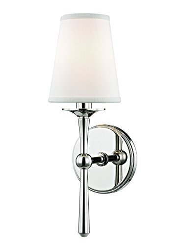 Hudson Valley Lighting Hudson Valley 9210-PN Transitional One Light Wall Sconce from Islip Collection in Chrome, Pol. Nckl.Finish, Aged Brass Finish
