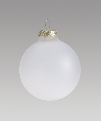Painting Glass Ball Ornaments - Darice Frosty, Heavy Duty, Round Glass Balls - Removable Top - Can Be Painted, Embellished and Filled - Make Customized Holiday Ornaments - Perfect for Crafting and Winter Décor, 70mm (6 Pieces)