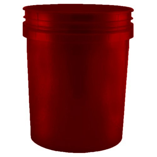 5 Gallon (20L) Plastic Buckets, 3-Pack - Maroon by BayTec (Image #3)