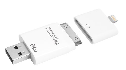i-FlashDrive HD 64GB with dual storage between iOS and Mac/PC - Apple licensed for iPod/iPhone/iPad (Lightning/30-pin) by PhotoFast (Image #4)