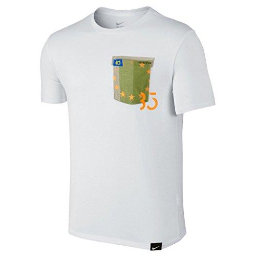 Nike Mens KD 8 HO2 Pocket Dri-Fit Shirt White/Green/Orange (2X-Large) (Nike Graphic Tees Dri Fit)