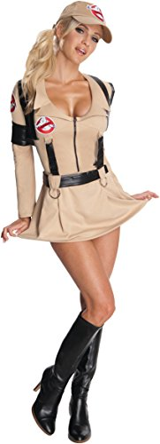Ghostbuster Costume Womens (Rubie's Ghostbusters Secret Wishes Sexy Costume,Tan,Medium)