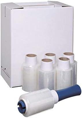 12 Clear Strong Mini Handy Pallet Stretch Shrink WRAP Film 100mmx150m Dispenser
