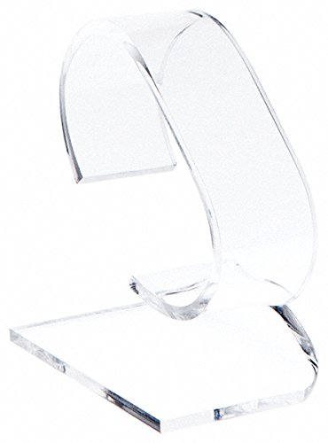 Plymor Brand Clear Acrylic Watch Display Stand, 1.75