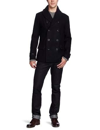 J.C. Rags Men's Coated Coat, Dark Navy, Medium