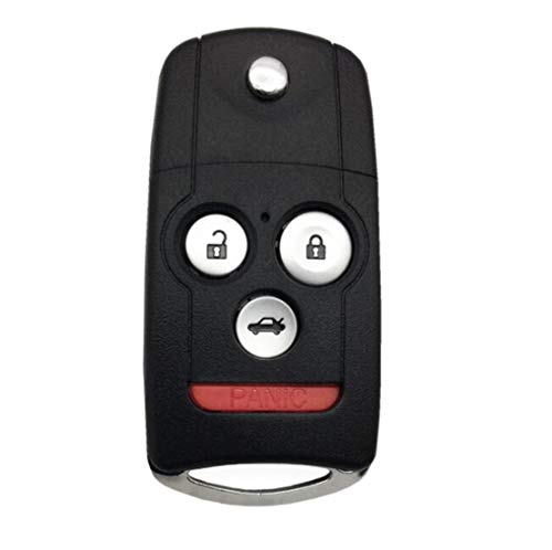 Uncut Keyless Entry Remote Control Car Key Fob Shell Case fit for Honda Accord Acura MDX Acura RDX Acura TL Acura TSX Acura ZDX