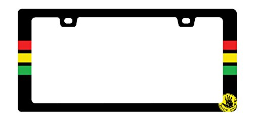 Frame Car Body - Bell Automotive 22-1-70334-8 Black/Multi Body Glove Rasta License Plate Frame