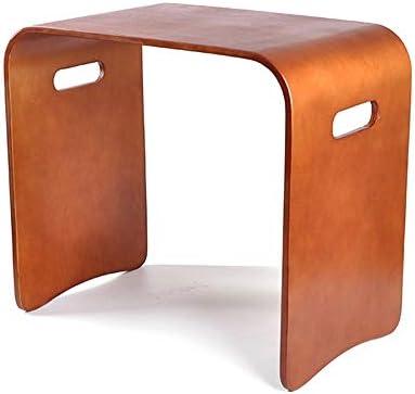 GWDJ サイドテーブル、ソリッドウッド製スモールスクエアスツール、家庭用テーブルスツール、安定したベッドサイドテーブル、ベンチ、ネストテーブル、寝室用リビングルーム4色、3サイズ コーナーテーブル (色 : Brown, サイズ さいず : 51×31×46cm)